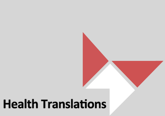 Website design for Health Translations, a directory which provides direct links to reliable translated health resources produced in Australia.